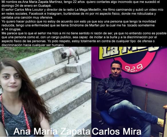 Ana MAria vs Carlos Mira